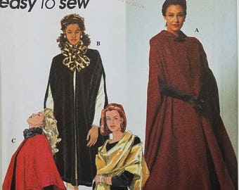 Misses' Robe and Cape Clothing Pattern. Size BB L, XL. Simplicity 7438.