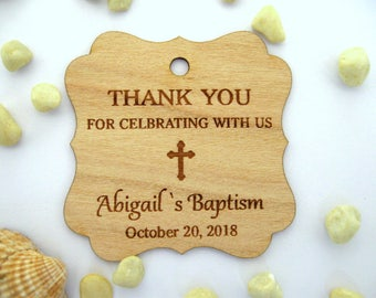 Baby baptism favor tags, christening favor tags, baptism tags, party favor tags, religious tags, cross favor tags, favor tags