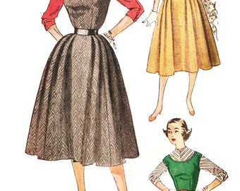 Simplicity 4422 Misses' Vintage Jumper Dress and Blouse Sewing Pattern