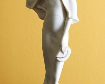"Giuseppe Armani Figurine, Art Deco Figurine, Art Deco Decor, Capodimonte Figurine, Vintage Giuseppe Armani Art Deco ""Lady With Bag"" Figurine"