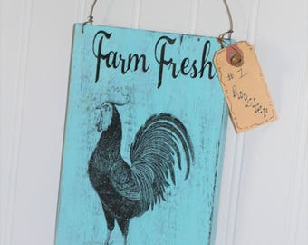 Rooster kitchen decor - Kitchen rooster decor - Rooster decor for the kitchen - Primitive rooster decor -  Rooster themed kitchen