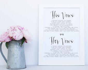 Wedding invitations etsy au vows printable sign wedding printable signs wedding vows wedding vow sign printable junglespirit Image collections