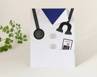 Veterinary Doctor Greeting Card, Doctor Card, DVM, Vet Doctor, Pet Clinic, Veterinarian Graduate, Vet Technician, Animal Shelter