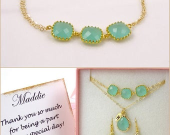 Bridesmaid Gift Bracelet Mint Green Bracelet for Women Gifts for Her Maid of Honor Gift for Best Friend Gift Wedding Gifts for Bride