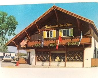 Frankenmuth Michigan Postcard, Cheese Haus, Michigan State Travel Postcard, Michigan Souvenir Memorabilia, Saginaw County Michigan Postcard