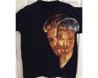 David Bowie, David Bowie, David Bowie T shirts, David Bowie CONCERT 1990s, Brockum Tag, Vintage, Navy T Shirt Size XL Mint Condition
