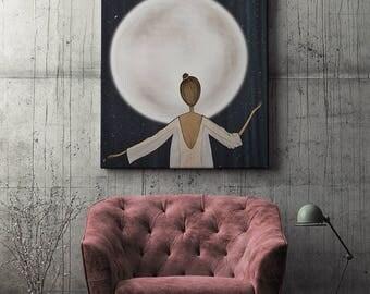 Digital illustration, signed digital print   Moonstruck