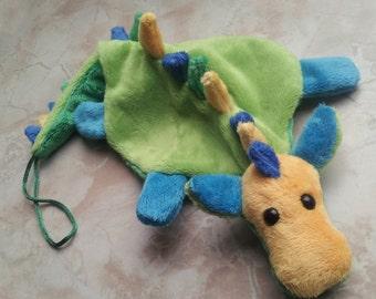 baby toddler dragon pacifier holder plush