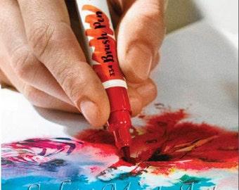 Talens Ecoline Brush Pen Liquid Watercolor Ink Paint Set Artists Aquarell kit Les Aquarelles Professional for cardmaking stamping lettering