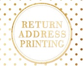 Matching Return Address Printing - Add-on to Invitation Set Order