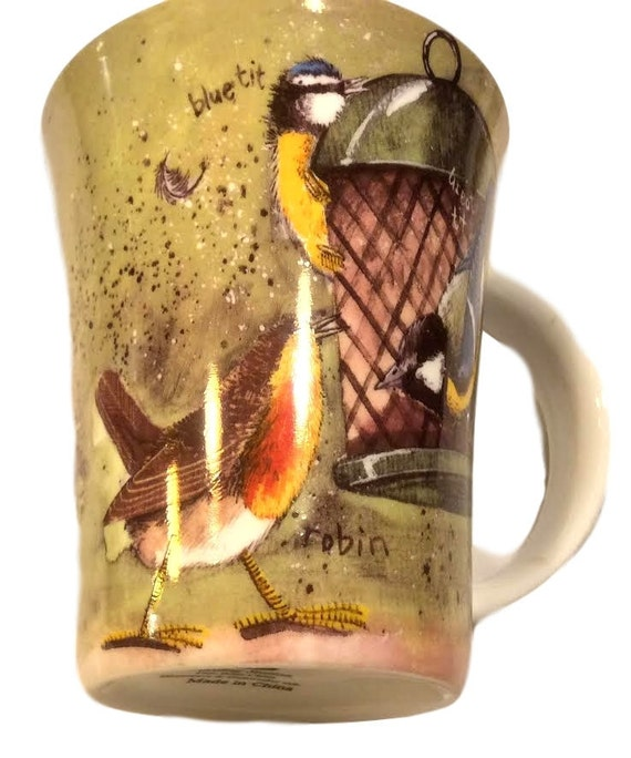 Cute Mug For Her, Queens Kitchen Alex Clark Coffee Mug With Birds, Gift For Her, Unique Coffee Mug