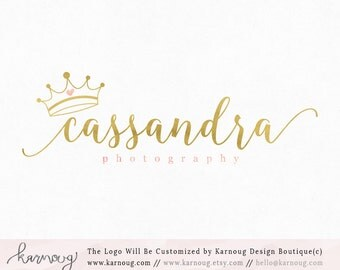 Crown Logo Tiara Logo Boutique Logo Photography Premade Logo Watermark Logo Business Logo Branding Logo Custom Logo Logos and Watermarks