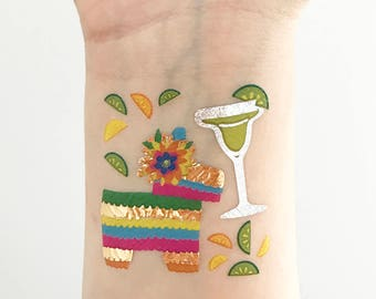 Cinco de Mayo - Temporary Skin & Nail Tattoos