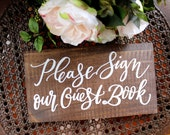 Rustic Wedding Sign, Guest Book Sign, Rustic Wedding Decor, Wooden Wedding Sign
