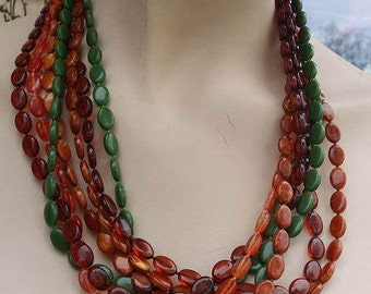 Vintage strands lucite beads necklace