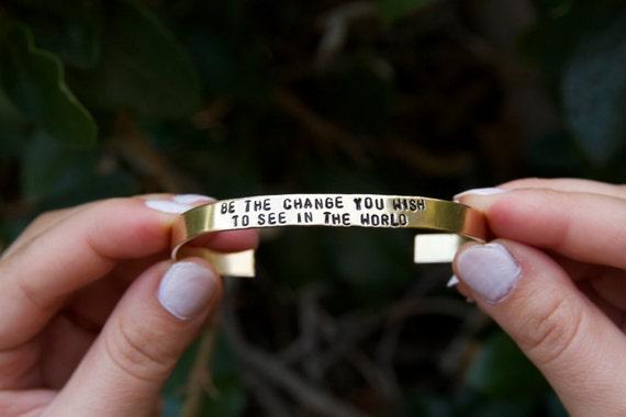Custom Bracelet. Custom Cuff Bracelet. Quote bracelet. Quote Jewelry.