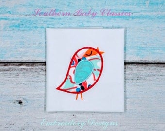 Bird Applique Design File for Embroidery Machine Applique Instant Download Spring Sun Baby