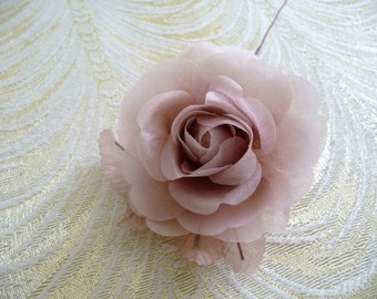 Small Silk Millinery Rose Mauve Pink Pale Pink for Hats, Weddings, Corsage, Bridal Flower 3FN0089M