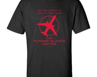 Re-Accommodate Hunger Planes Funny T Shirt - Black