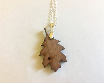 ONE OF A KIND!! Sustainable Natural Wood Pendant / Real Wood Pendant, Leaf Jewelry, Wood Leaf Pendant, Natural Wood Necklace, Wood Necklace