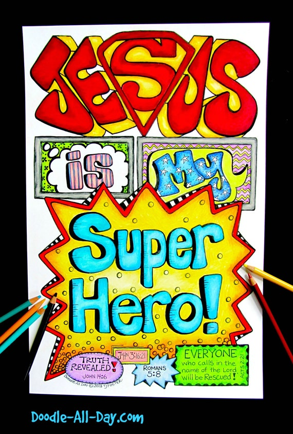 Jesus is my super hero for Hero central vbs crafts