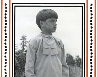 Boy's Colonial - Pioneer Authentic American Shirt sizes 4-14 Eagle's View Sewing Pattern # PM/67