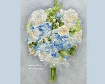 Custom Wedding Bouquet Painting in OIL by LARA 8x10
