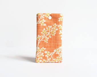 Samsung Galaxy S8 Case, Galaxy S8 Plus, S7 Case, iPhone 7 Sleeve, iPhone 6S Case, Padded Phone Sleeve - Orange Blossom