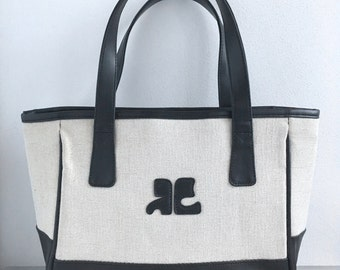 Vtg AUTH UNUSED COURREGES 60s Style Space Age Handbag Bag Evening Bag - Near Mint Condition !