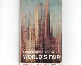 1964 Vintage New York World's Fair Guide by Look, Magazine Insert Booklet, Vintage World's Fair, 1964 Ephemera, Vintage Advertising