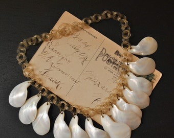 1940s Celluloid Shell Necklace
