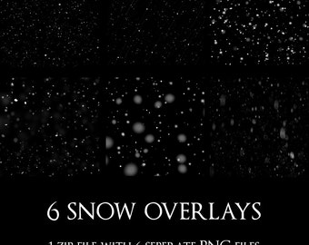 INSTANT DOWNLOAD, snow overlays, Christmas overlays, snow PNG's, Winter overlays, snow clip art, Holiday overlays, blowing snow, snow storm