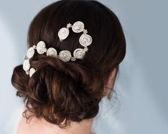 Bridal Hair Comb - Wedding Hair Comb - Diamanté wedding hair comb - Beaded hair comb - Amelie hand beaded bridal hair comb