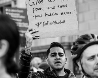 Resist - Washington DC // Give us your poor, your tired, your huddled masses // Black and White Fine Art Photography // Giclée Print
