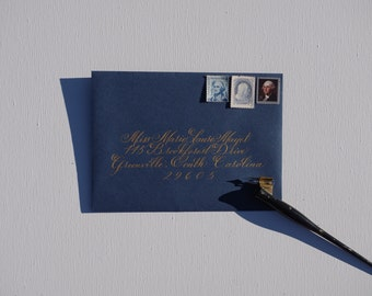 Envelope Calligraphy: Marie Style
