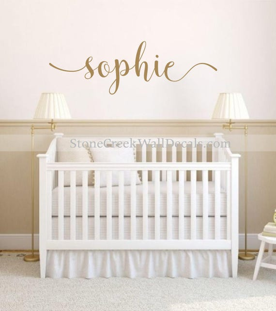 Name Wall Decals For Nursery Tags: Name Wall Decal Personalized Name Decor Girls Nursery Decal