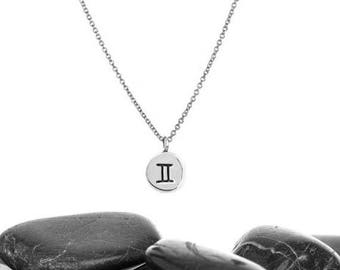 Gemini, Gemini Gifts, Gemini Zodiac, Gift For Gemini, Gemini Astrology, Gemini Necklace, Gemini Jewelry, Birthday Gift, n247mS