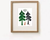 "Two Trees & a Bunny print | 8""x10"" 