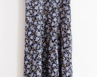 Avocado Blue Flower Print Dress, Size M