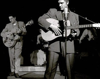 Elvis Presley ,  Elvis and Scotty on stage 1950's