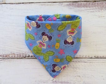 Mermaid Baby Bib | Nautical Bibdana | Baby Girl Bib | Handmade Baby Bib | Teething Bib | Drool Bib | Dribble Bib | Baby Shower Gift
