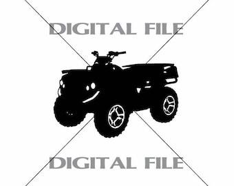 4 Wheeler ATV Vector Images Vinyl Decal T-shirt Digital Cutting Files ,Svg File, Ai, Eps, PNG, A1