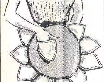 1950s Mail Order 5686 Women's Sunflower Apron Sewing Pattern UNCUT
