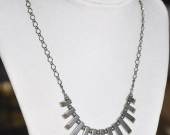 Necklace Graduated Hematite Gunmetal Chain #270217