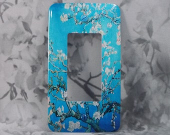 Metal Vincent van Gogh Rocker Switch Covers - - 1SRM - GFI  - Amandelbloesem - Blooming Almond Branches