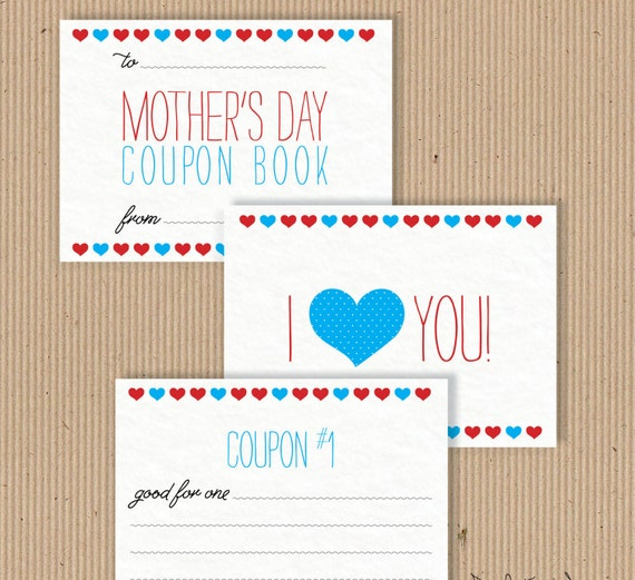 Mother day printable coupon book