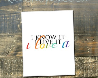 I know it, I live it, I love it  Quote Art Print | 5x7 | LDS, Mormon, Inspirational Quote, Home Decor, Office Decor, for Her, baptism