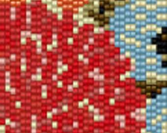 Prairie Floral II Seed Bead Peyote Cuff Beaded Bracelet Pattern