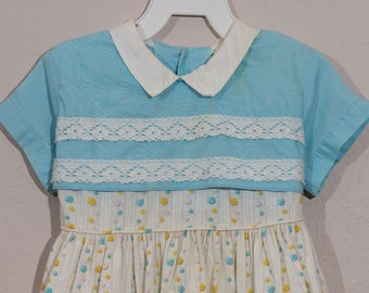 Vintage Patricia Ann Dress, 1950's Girl's Party Dress