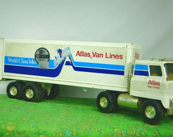 ERTL Atlas Van Lines Truck & Trailer - Promotional Truck Advertising - ERTL # 1561 - Kid's Toys